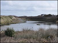The pond is all that remains of the Braye du Valle